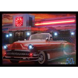 Roadside Diner Vintage America Neon Led Framed Poster Retroactives Com