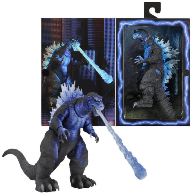 "12/"" Head To Tail Action Figure 2001 Atomic Blast Godzilla NECA Godzilla"