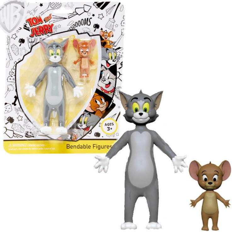 Officially Licensed Tom and Jerry 2 Pack Set Space Jerry Action Figures Age 3+