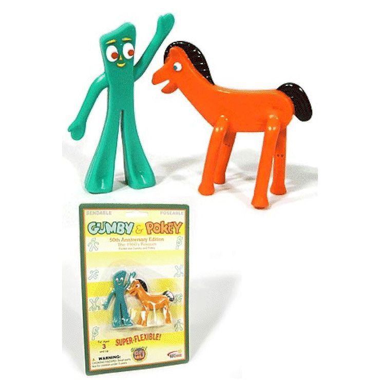 Gumby /& Friends Retro Gumby Bendable Figure by NJ Croce 50th Anniversary Edition